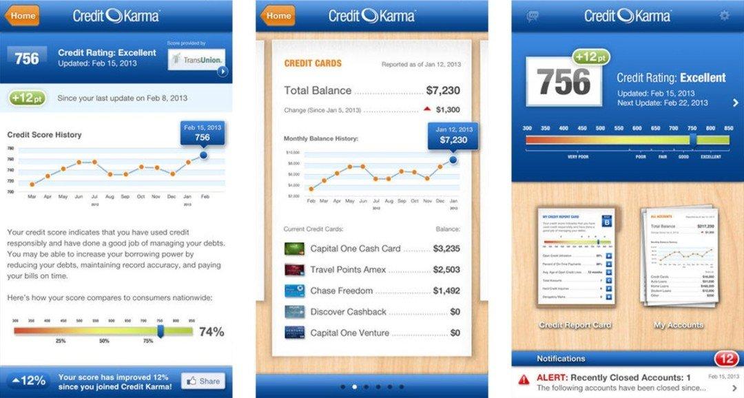 CreditKarma app