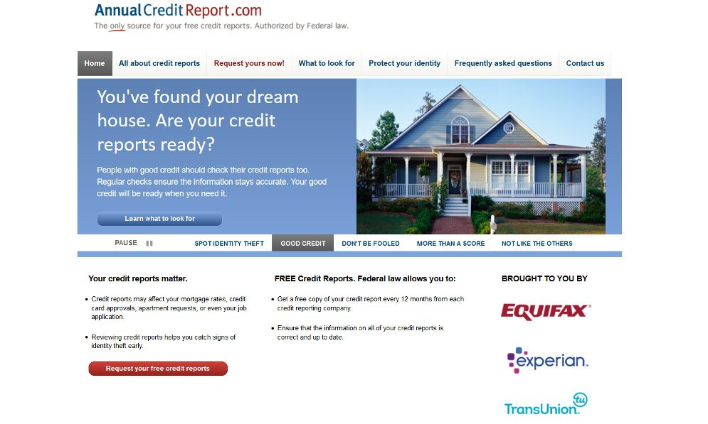 AnnualCreditReport.com's website