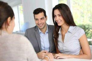 couple getting a loan